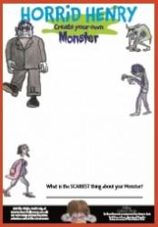 Horrid Henry Create Your Own Monster