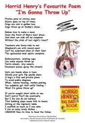 Horrid Henry's Favourite Poem