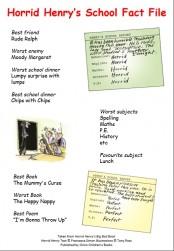Horrid Henry's School Fact File
