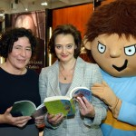 Francesca with Cherie Blair & Horrid Henry