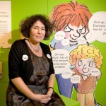 "Francesca Simon at the ""Up to Mischief"" exhibition at Seven Stories"