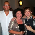 John Godber, Francesca Simon and Steven Butler (Henry) at the opening of Horrid Henry - Live and Horrid!