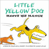 Little Yellow Dog Meets his match