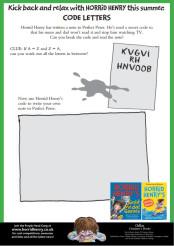 Summertime Activity Sheet