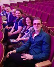 with her fellow £1 book authors: Tom Fletcher, Francesca, Steven Butler (host), Clare Balding, Chris Riddell (Children's Laureate), Ben Cort