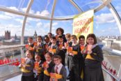 Up in the London Eye with the Horrid Henry £1 book